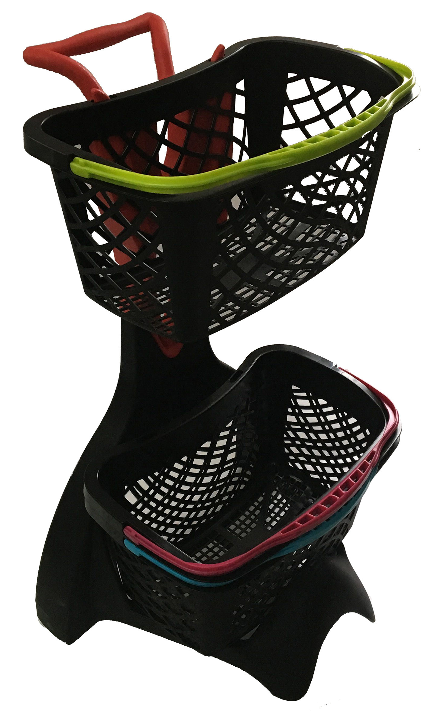 580x480x980 Plastic Shopping Basket Trolley With 3 Inch TAPE Wheel